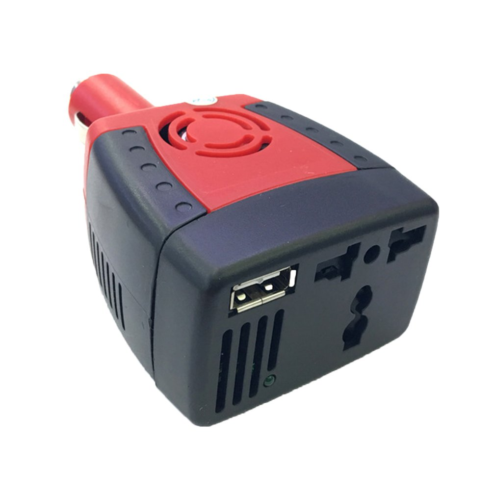 150W <font><b>12V</b></font> DC <font><b>to</b></font> <font><b>220V</b></font> AC Cigarette Lighter Power Supply <font><b>Car</b></font> Power Inverter Converter <font><b>Adapter</b></font> with USB Charger Port image