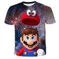Новейший Harajuku футболки с принтами на тему классических игр «Супер Марио» для маленьких мальчиков и девочек супер Smash Bros 3D футболка в стиле х...
