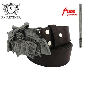 Brand Fashion Gun Belt Buckles Metal Men Women West Cowboy Buckle Head with