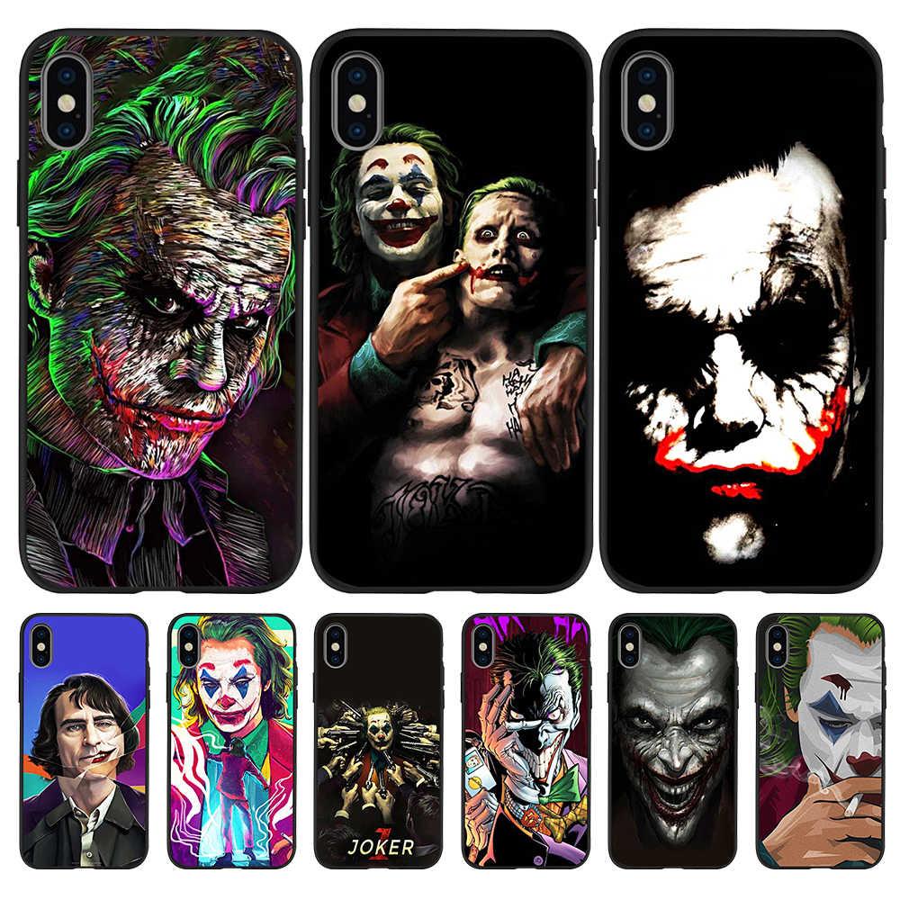 Joker DC garçon 2019 souple en silicone Pour iPhone X XR XS 11 Pro Max 5 5S SE 6 6S 7 8 Plus Oneplus 5T Pro 6T housse de téléphone Coque