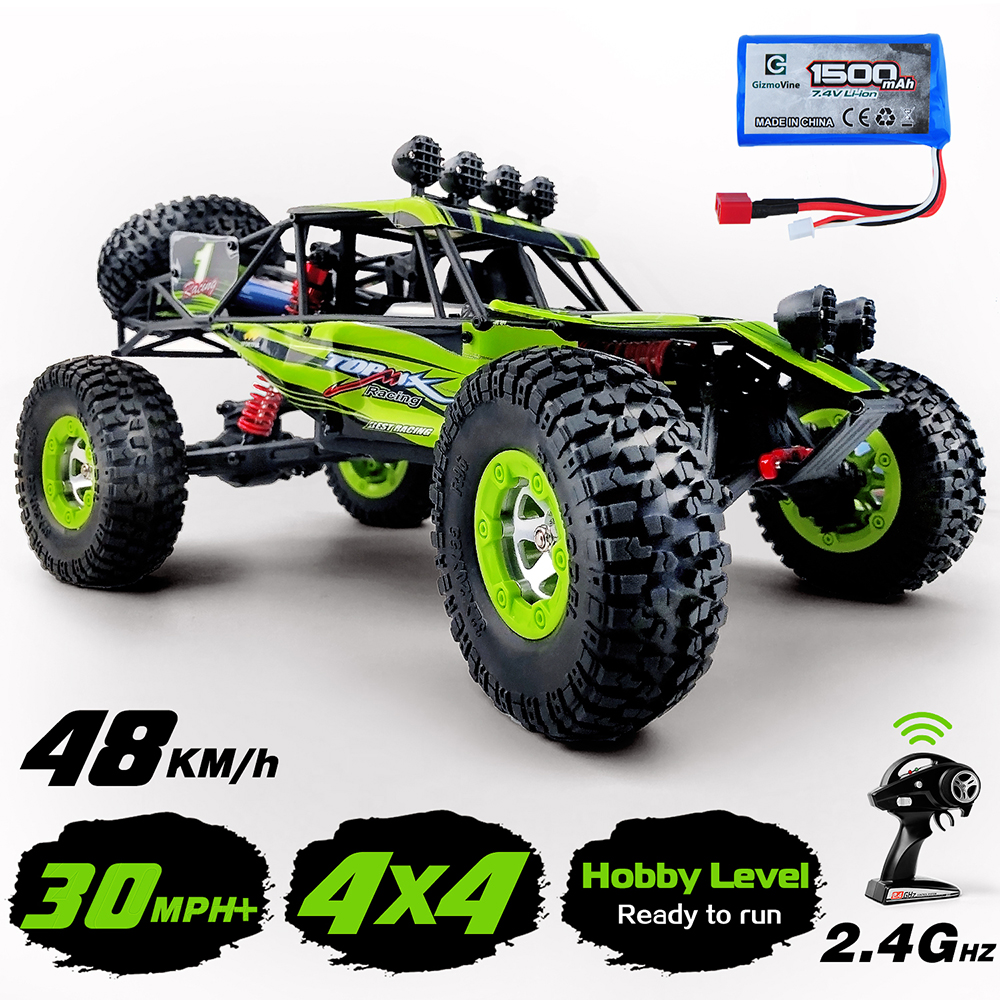 1:12 4WD RC Cars Update Version 2.4G Radio Remote Control Buggy 2020 High Speed Racing Car 48km/h RTR Off-road Vehicle Hobby Car