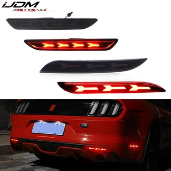 iJDM Car led For 15-17 Ford Mustang Bumper Reflector Lights and Rear Side Marker Lamps,Tail/Brake or Rear Fog Lamps Turn Signal