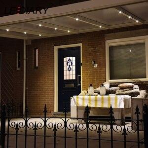 Image 5 - LEDIARY miniluces LED para empotrar, foco blanco regulable con Control remoto, 1,5 W, 110V 220V, 27mm, tamaño de orificio de corte, iluminación de mueble de interiores