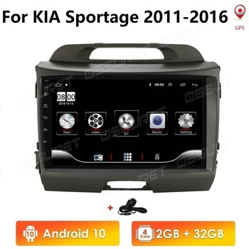 Android 10 2G RAM Car Radio GPS for KIA Sportage 2011-2016 Multimedia Player 2 Din Head Unit Wifi 4G USB Steering Wheel Control image