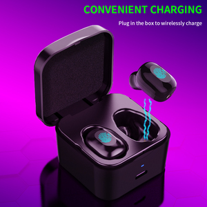 Bluetooth 5,0 наушники 2200 мАч зарядная коробка беспроводные наушники 9D стерео спортивные водонепроницаемые наушники гарнитуры с микрофоном