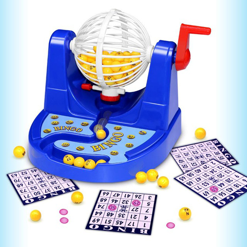Fun Mini Bingo Game Bingo Card Ball Chip Machine Set Funny Classic Gambling Family Kids Game Christams Halloween Party Gift