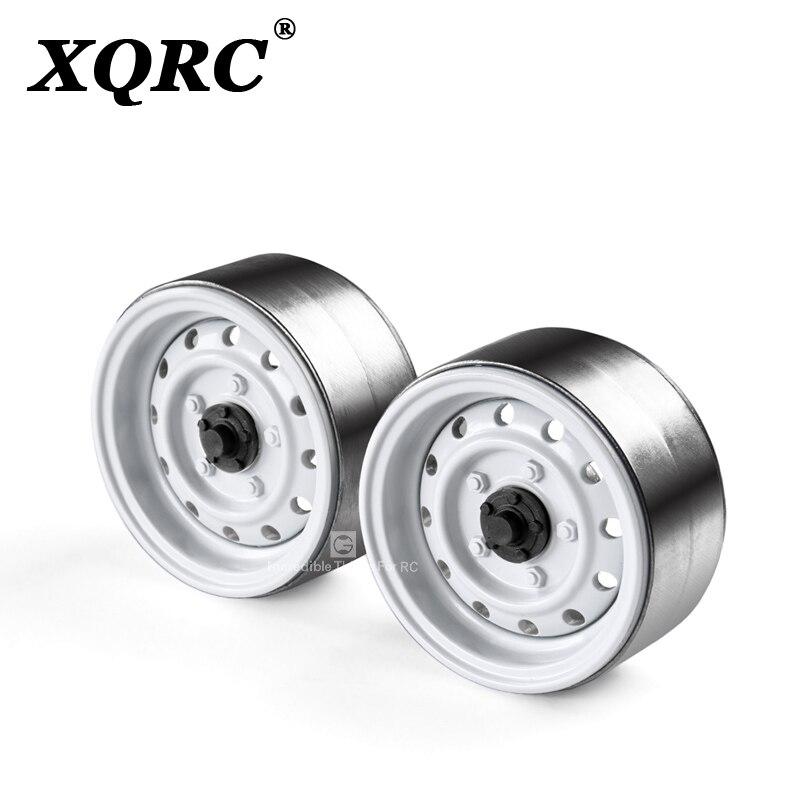 XQRC Classic Metal 1.9inch Wheel Hub Rim Beadlock For 1/10 RC Crawler Car TRX-4 TRX4 Defender Bronco D90 D110 Axial SCX10 90046(China)