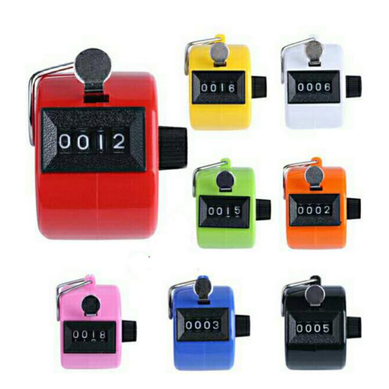4 Digit Mechanical Counter Digital Counter Clicker With Metal Lap Manual Clicking Hand Counter For Sports Running Kicking