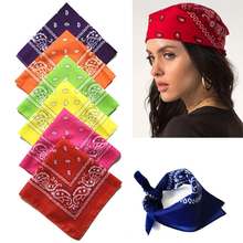 13 Colors Cotton Bandana Scarf 55*55cm Outdoor Sports Headwear Face Mask Camping Cycling Headscarf Wristband Headband