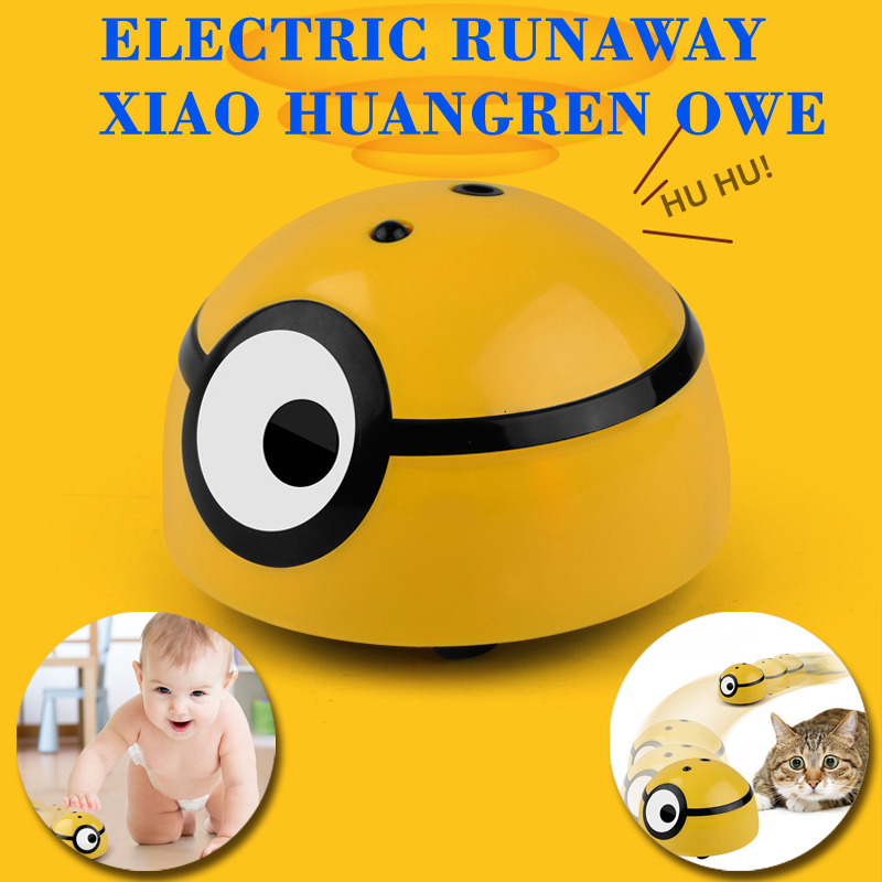 Minions Running Induction Runaway Toy Ball Crazy Run Away ME RC Induction Car Runing Away Pet Automatic Walking Cat Dog Child image