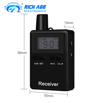 wireless remote control tour guide system 2 transmitters and 8 receivers with 10 slot case