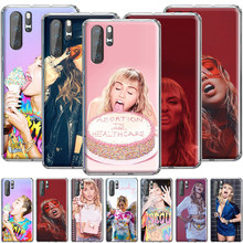Miley cyrus silicone caso para huawei companheiro 10 20 30 lite pro nova 2 2i 3 3i 4 5i