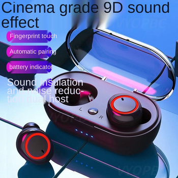 Bluetooth earbuds 5.0 Wireless headphone Mini Stereo Headset Wireless In-Ear Touch Control Headphone Select Songs for all phones 2