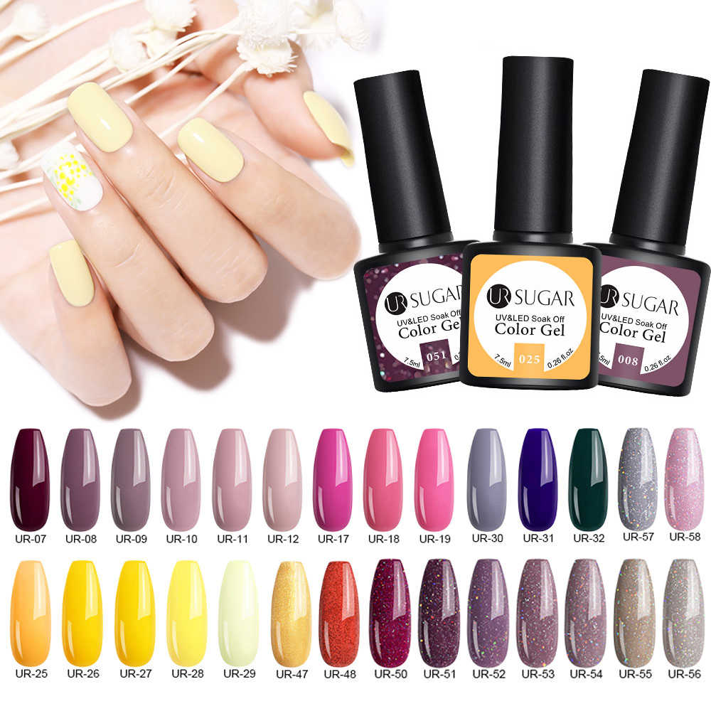 UR SUIKER Matte Top Naakt Kleur UV Nail Gel Hybrid Varnish Poolse Semi Permanant Top Base Gel Soak Off Nail art Tips Decoratie
