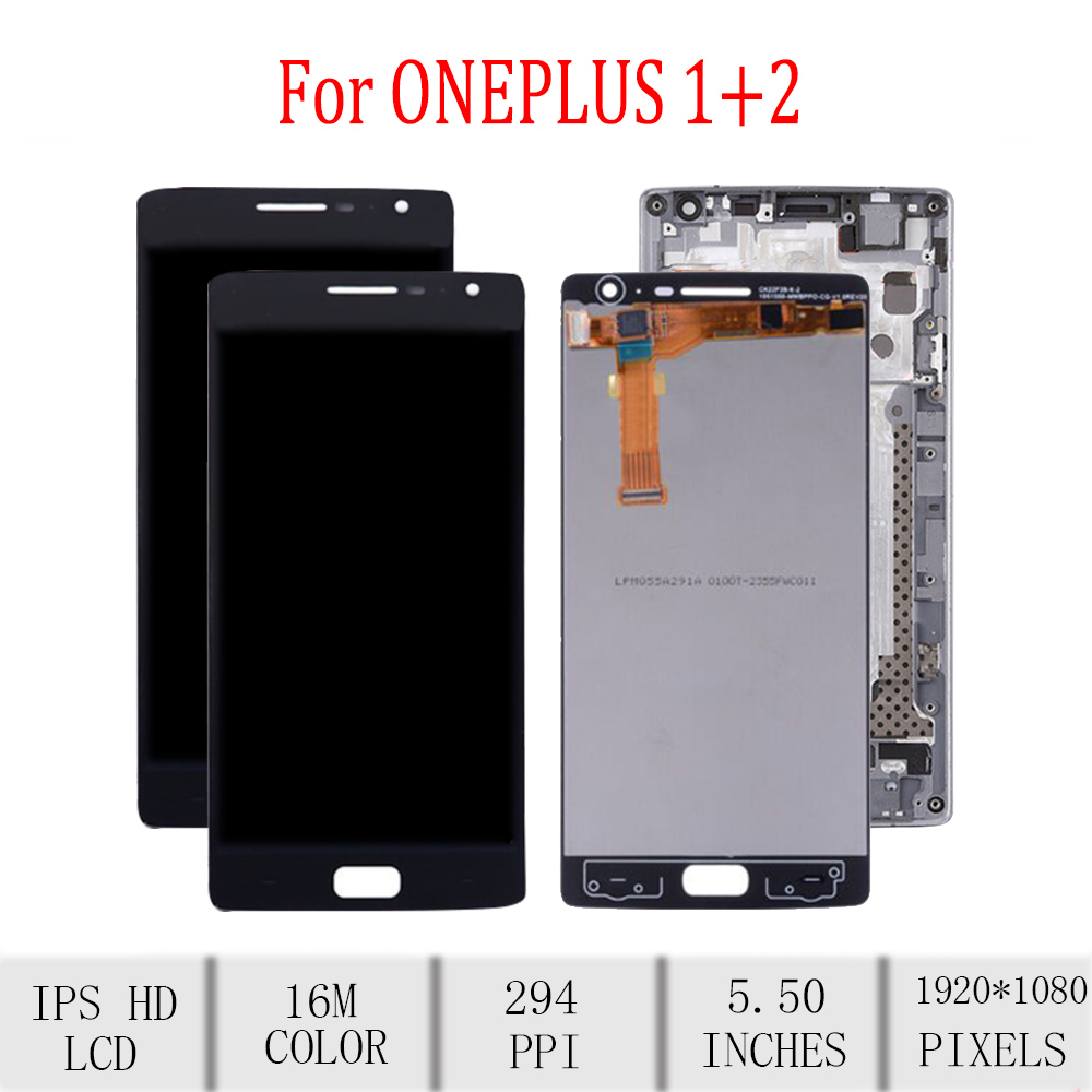 Original For <font><b>Oneplus</b></font> <font><b>2</b></font> LCD Display Touch <font><b>Screen</b></font> Digitizer For <font><b>Oneplus</b></font> <font><b>2</b></font> Display with Frame <font><b>Replacement</b></font> A2001 A2003 A2005 <font><b>Screen</b></font> image