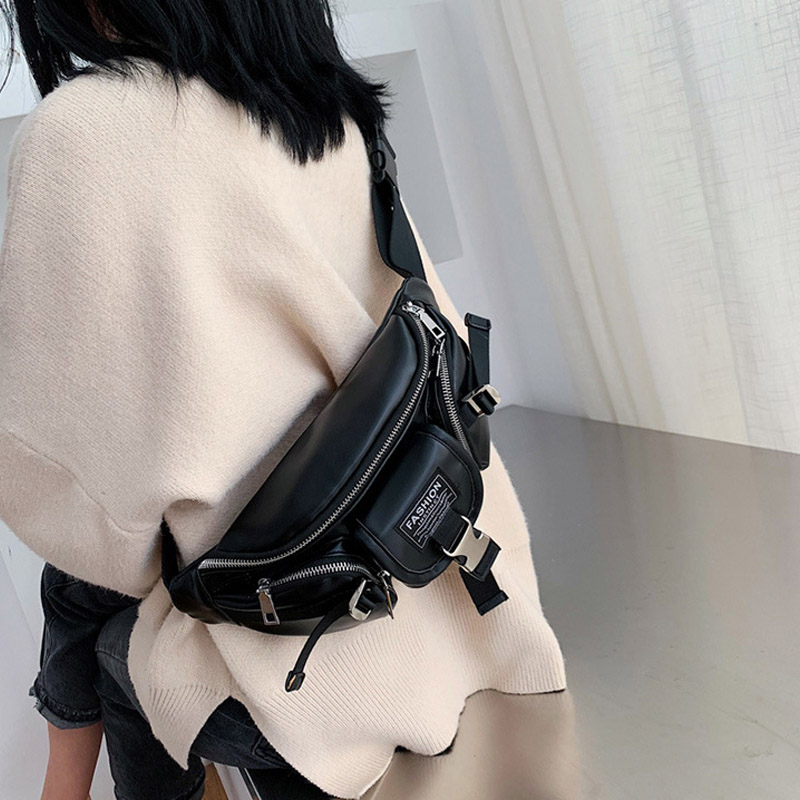New Women Waist Pack Shoulder Bags PU Leather Ladies Fannie Packs Chest Bag Hip Bags Fashion High Quality Brand Messenger Bag
