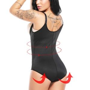 Image 2 - Redutoras cinta modeladora de látex, corset feminino para cirurgia slim corset modelador de cintura