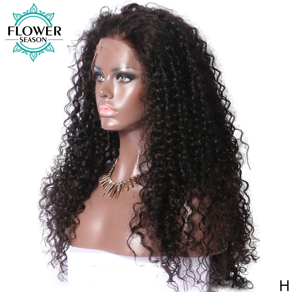 5*4.5 Silk Base Human Hair Wigs Curly Lace Front Wig With Baby Hair Glueless Malaysian Remy Hair 130% Pre Plucked FlowerSeason