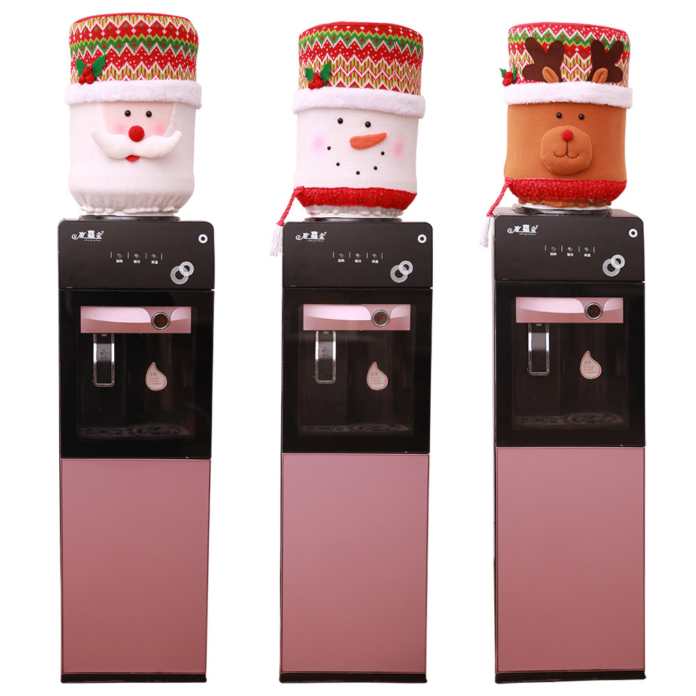 Christmas Dust Cover Water Bucket Dispenser Container Bottle Purifier Xmas Home Decoration Cute Buskets Covers