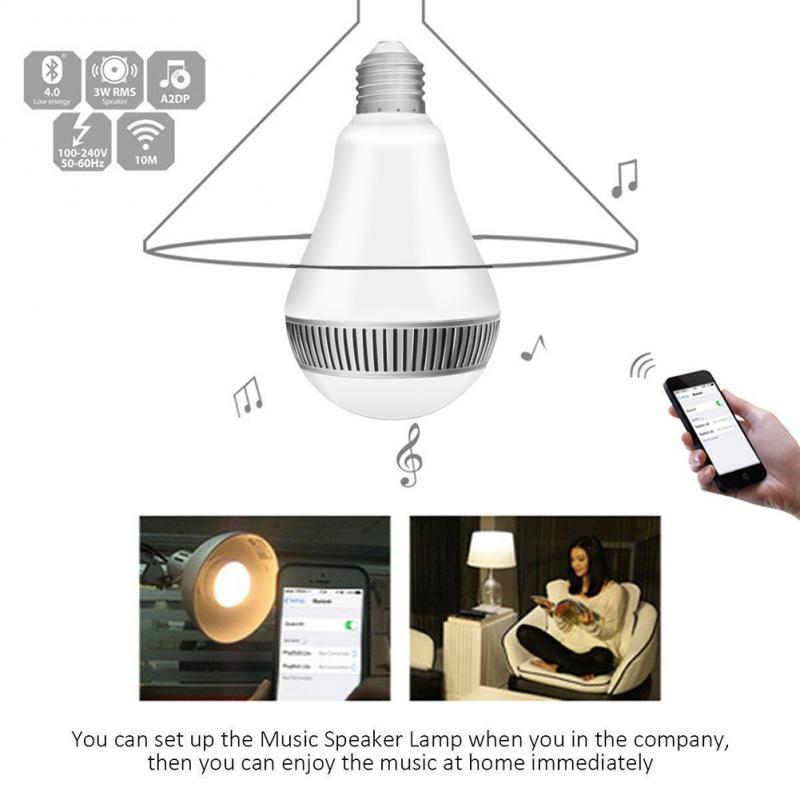 Smart LED Bulb with Wireless Bluetooth Speaker  5