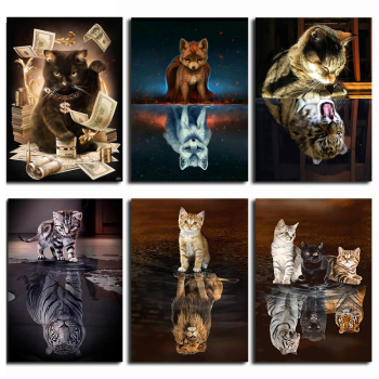 BRODERIE DIAMANT ANIMAUX CHATS