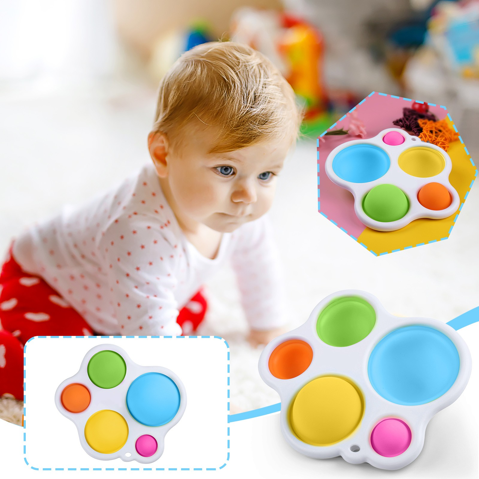 Fidget Toy Baby Silicone Simple Dimple Early-Educational img2