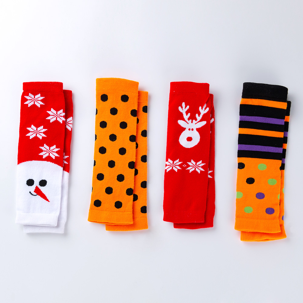 Halloween Girls Leg Warmers Toddler Leggings Cotton Knee Newborn Boys Tights Infant Soft Dot Print Socks Christmas Clothes