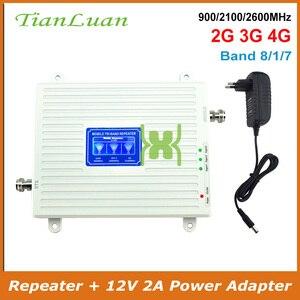 Image 1 - Трехдиапазонный усилитель сигнала 2G 3G 4G GSM 900 WCDMA 2100 LTE 2600