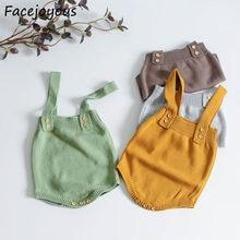 Mono de punto para bebé, ropa infantil bonita sin mangas para niños y niñas de 0 a 24 meses