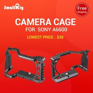 Image 5 - SmallRig A6600 מצלמה כלוב עבור Sony A6600 Dslr כלוב עם קר נעל Arri חורי איתור חצובה ירי כלוב אבזר 2493