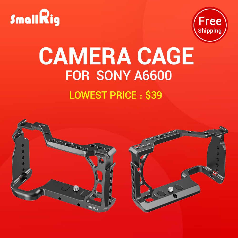 Smallrig a6600 gaiola da câmera para sony a6600 dslr gaiola com sapata fria e arri localização buracos tripé tiro gaiola acessório-2493