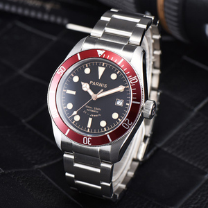 Image 4 - パーニス 41 ミリメートル腕時計メンズ御代田自動機械式ムーブメントステンレス鋼発光高級ブランドサファイアクリスタル腕時計男性