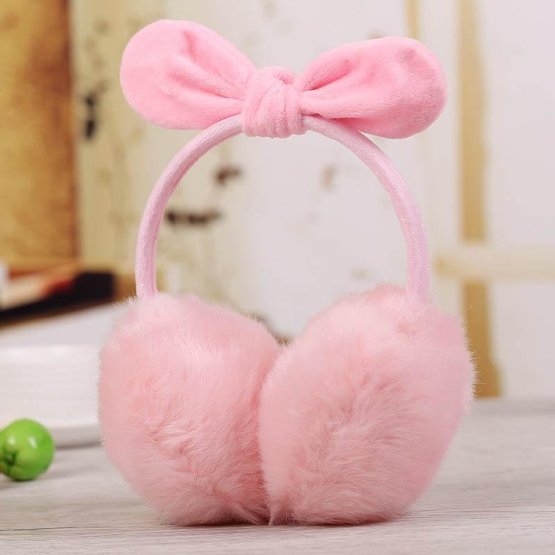 Ladies Girls Earmuffs Cute Bowknot Furry Ear Muffs Comfy Soft Outdoor Winter SER88