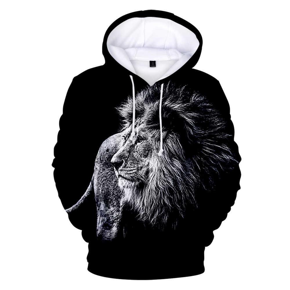 패션 디자인 핫 드 라이온 킹 3d 후드 mannen/vrouwen 패션 캐주얼 까마귀 3d 인쇄 드 라이온 킹 스웨터 kindere 인쇄