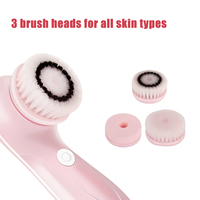 Electric Face Cleaner with Brushes Personal Care Tools Facial Massager Skin Beauty Tools Soft Acne Bleackhead Remover Machine 2