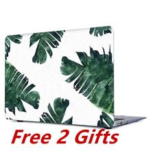 For Macbook Air 13 inch Case Clear Matte Leaf Floral Hard Cover for Apple 2020 A2179 A1466 A1369 A1932 2018