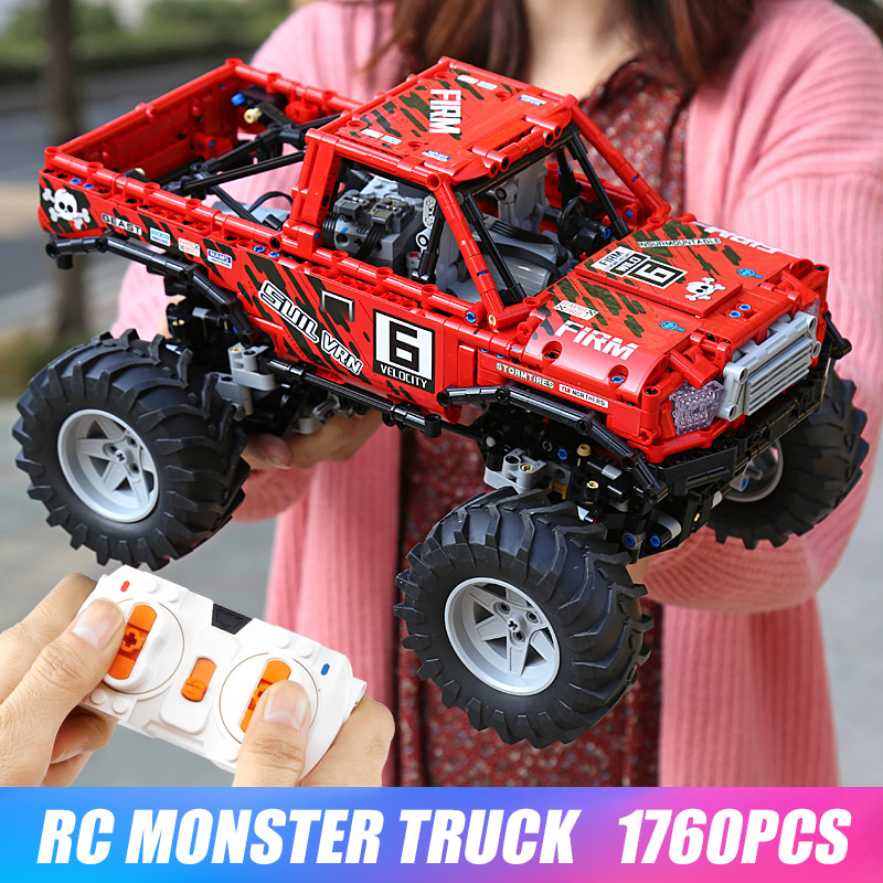Technic Series Toyotas Hilux The 4X4 Off Road Vehile Model Building Block Blocks Compatible Lepining 29256 Christmas Gift Toys