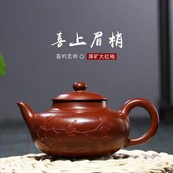 High-quality Handmade   Zhu Ni Dahongpao Teapot Red Clay Tetera 100ml Zhu Ni Porcelain Antique Chinese Ceramic Kettle