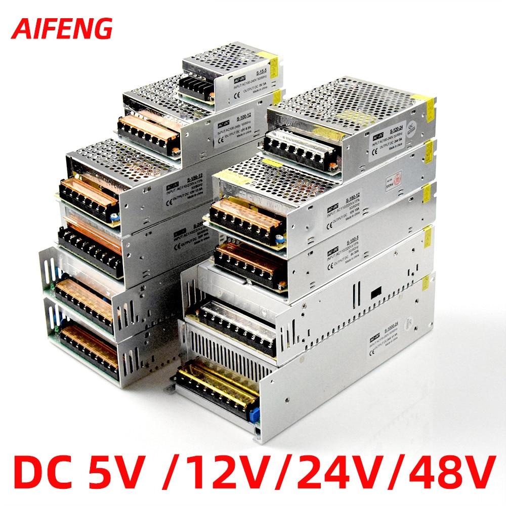 Led Power Supply12v 24v 48v 5v 1a 2a 3a 5a 10a 15a 20a Schakelende Voeding Verlichting transformator Adapter Bron