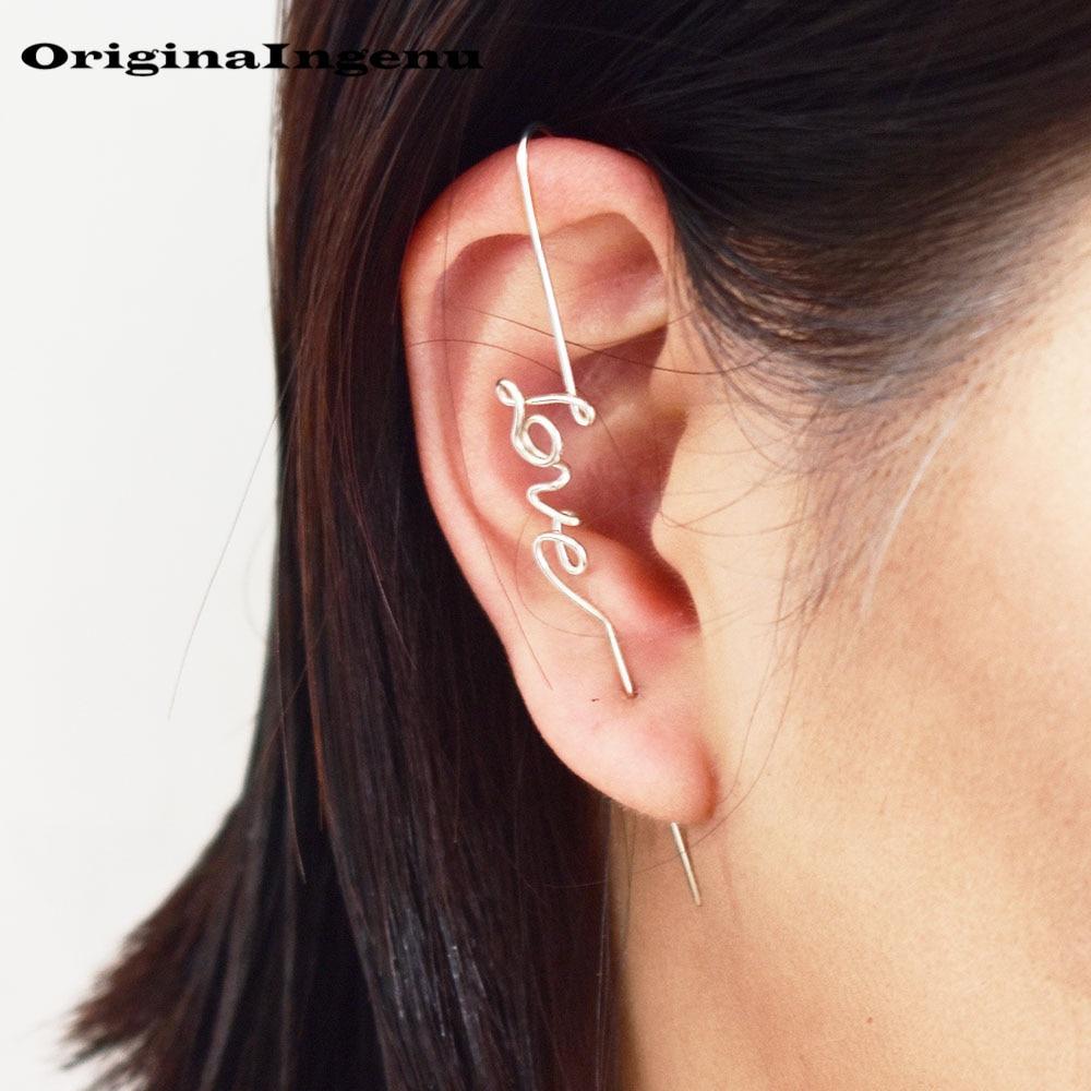 925 Silver Ear Climber Gold Filled Jewelry Handmade Earrings Minimalist Brincos Vintage Oorbellen Boho Earring For Women