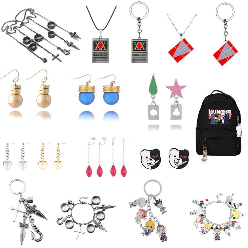 keyring Anime Jewelry Hunter x Hunter Keychain/&Necklace GON FREECSS License Pendant Car Keyring Holder Chain Choker Christmas Gift