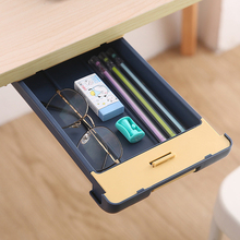 Desktop Hidden Storage Box Drawer Pasted Nail-Free Pen Box With Card Lock Under Desk Drawer Cosmetic Box Sundries Storage Box tanie tanio EH-LIFE CN(Origin) Storage Drawers 483340 Eco-Friendly ABS+acrylic glue Desktop storage box Cosmetic storage box Pencil storage box