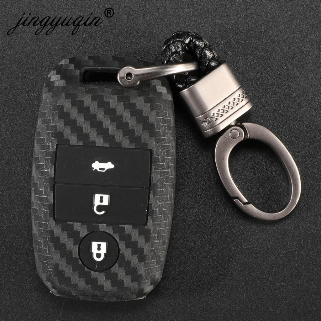 Remote 3 Buttons Silicone Car Key Case For Kia K3 K4 K5 Rio Ceed Soul Sportage Sorento Carens Picanto Skin Smart Fob Cover