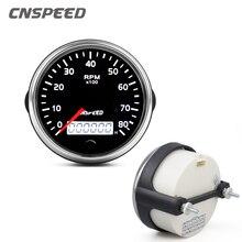 85 مللي متر مقياس سرعة الدوران 0 8000 دورة في الدقيقة 12 فولت/24 فولت Tacho متر العنبر/الضوء الأبيض RPM مقياس مع LCD ساعة ل البنزين البنزين قارب سيارة البحرية