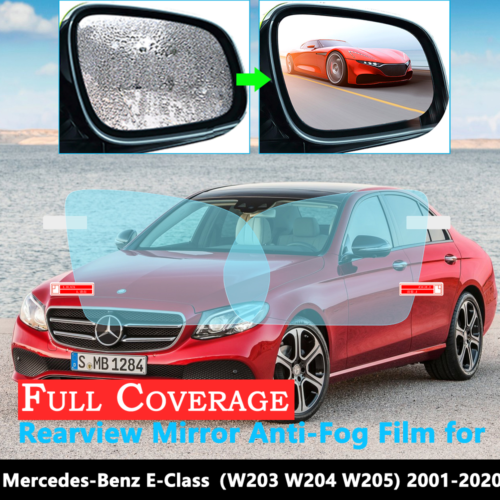 Full Cover Anti-Fog Film for Mercedes Benz E-Class W211 W212 W213 E-Klasse E200 E250 E300 <font><b>E220d</b></font> AMG Rearview Mirror Rainproof image