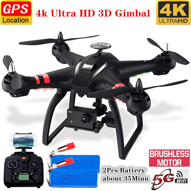 Double GPS Drone Brushless Motor 3 Axis Gimbal Quadcopter With HD Camera 4K Drone RC Helicopter Racing Drone Professional Drone image