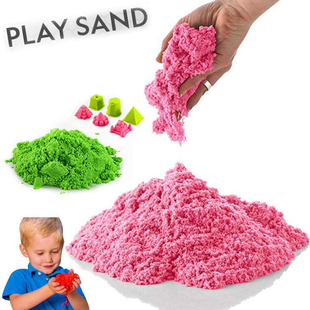 100g Dynamic Sand Play Toys Magic Clay Molding Colored Soft Slime Space Sand Supplies Play Sand Model Tools Antistress Toys Set
