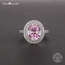 купить Shipei Luxury Pink White Sapphire Ring for Women Men 925 Sterling Silver Natural Sapphire Ring Wedding Engagement Coctail Ring дешево