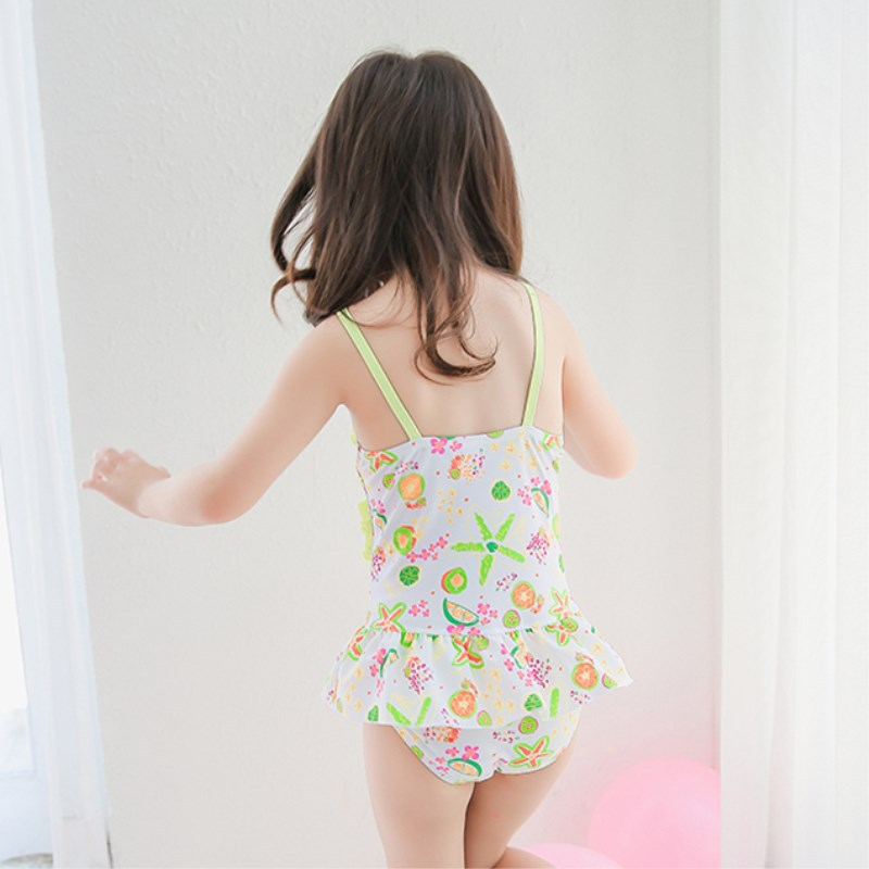 Special Offer KID'S Swimwear Big Boy Cute GIRL'S Students Pink Bow Skirt Sweet Hot Springs One-piece Swimwear