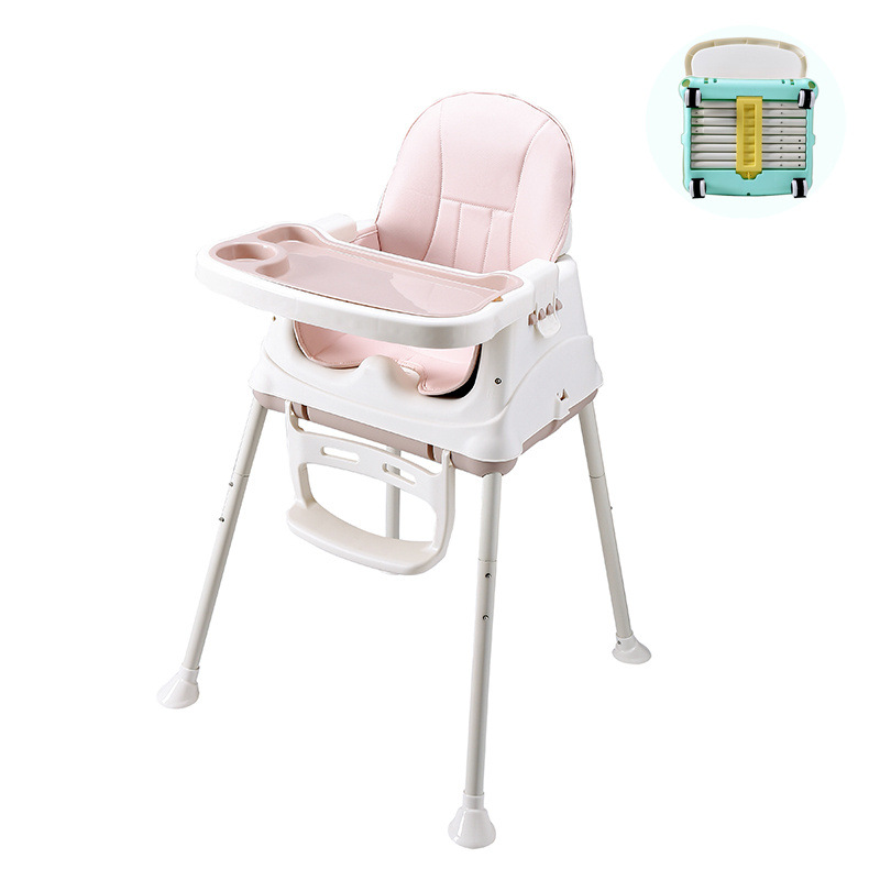 Baby's Dining Chair And Table Baby Dining Chair Portable Foldable Adjustable Multi-function Kids Furniture Kids Table And Chair